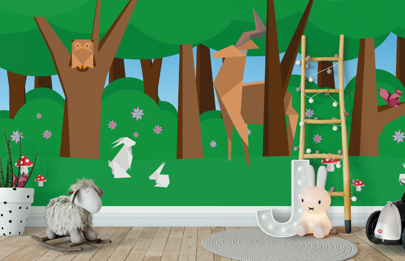 Forest Creatures Wall Mural