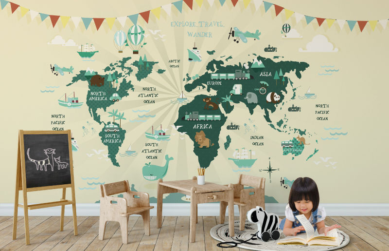 Global Explorer Wall Mural