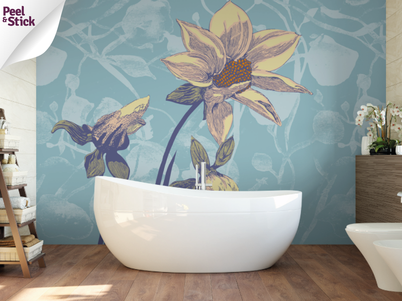 Flower Breezes Wall Mural