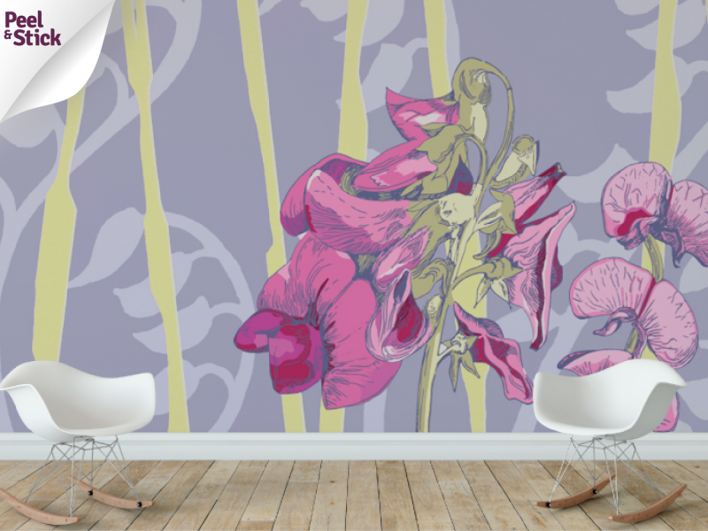 Sweetpea Wall Mural Part 88